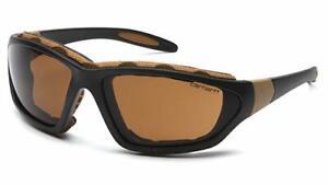 Carhartt CHB418DTP Carthage Safety Glasses Black/Tan Frame Sandstone Bronze Lens