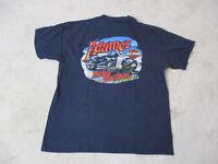 Harley Davidson Shirt Adult Extra Large Blue Jacksonville Florida Alligator Mens