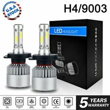 2x H4 Motorcycle Hi/Lo Headlight LED Light 6000k For Harley Electra Glide Honda