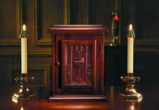 Carved Walnut Stain Stain Chalice and Host Tabernacle