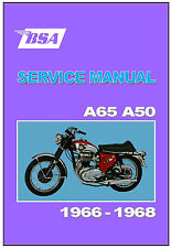 BSA Workshop Manual All A65 A50 Models 1966 1967 and 1968 FACTORY Service Repair