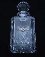 RAF Royal  Air Force  For Cut Crystal Glass Decanter Whiskey Spirit Gift BGK2
