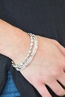 Paparazzi Jewelry Bracelet ~Hello Beautiful - White