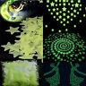 100-500pcs 3D Stars Glow In The Dark Luminous Fluorescent Stickers Wall Plastic
