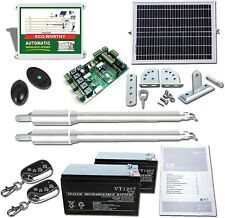 Solar Dual Automatic Swing Gate Opener Remote Door Kit Swing Gates Up to 1440lbs