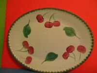 Blue Ridge Pottery Cherries  Trio Meat Platter