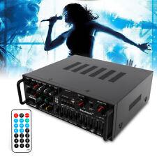 New listing 800W 2 Ch Eq Bluetooth Home Karaoke Stereo Amplifier Powered Equalizer Usb