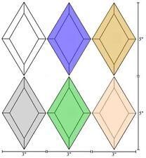 3x5 Diamond Bevels - Clear/Blue/Brown/Gray/Gre en/Peach