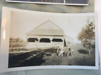 Vintage 1930 Farm Photograph Pennsylvania PA printed on a post card kids tires
