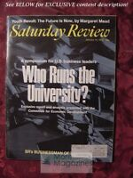 Saturday Review January 10 1970 UNIVERSITY MARGARET MEAD WILLIAM C. STOLK