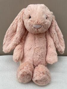 Jellycat Medium Bashful Peach Bunny Rabbit Baby Soft Toy Comforter US Exclusive