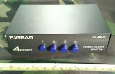 3 Three Channel 4 Four Way Passive Analog Audio Video / B-Format Switch, Phono