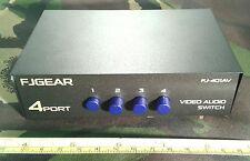 3 Tres Canales 4 Cuatro forma pasiva analógica de audio video / b-format Switch, Phono