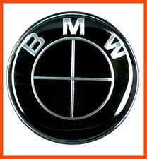 Passt zu BMW Schwarz Emblem 82mm 2Pin Vorne oder Hinten Motorhaube Kofferraum