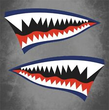"2 - 6""x11.5"" Flying Tigers WWII Warhawk Stickers Decals Car Truck Aircraft Blue"