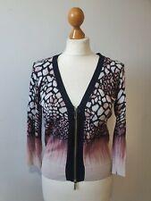 Karen Millen Pink Ombre Cropped Cardigan Size UK 14
