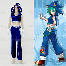 Vocaloid Hatsune Miku Sonic Cosplay Outfit Costume *Tailored*