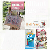 Sew Brilliant Bags and Half Yard Kids 2 Books Collection Set Pack NEW Paperback