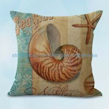 US SELLER, seashell beach nautical cushion cover cheap pillow covers