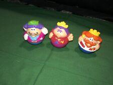 Playskool Weebles Castle Plastic King Prince Queen/Princess Figure Lot