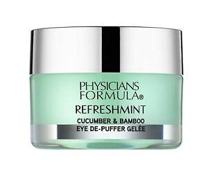 Physicians Formula Refreshmint Cucumber & Bamboo Eye De-Puffer Gelee PF11094 NIB