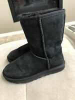 Ugg Classic Short Black Boots Size 6 Or 37 S/n 5825 Women's