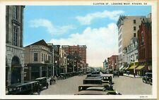 GA~GEORGIA~ATHENS~CLAYTON STREET LOOKING WEST~HOLMAN HOTEL~EARLY~PC7381