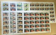 FULL SHEETS Grenadines 1980 411-19 - Disney, Christmas - Set of Sheets - MNH