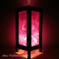 Asian Bamboo Zen Art Bedside Lamps, Wood Shades, Table Lamps, Night Lights UK