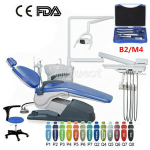 Dental Unit Chair Hard Leather Computer Controlled DC Motor&Stool/Handpiece Kit