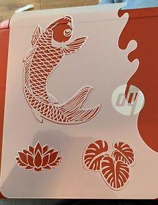 Koi Carp/JapaneseTheme Stencil Body Paint /airbrush Sleeve Tattoo Not Tattoo Pro