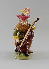 Porzellan-Figur Bettler-Musikant mit Chello Ernst Bohne & Söhne H21cm 9997054