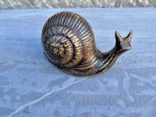 escargot en bronze , statue animalière en bronze d un escargot