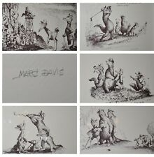 5 Serigraphs, Disney's Marc Davis, Golf themed, hand signed and numbered *RARE*