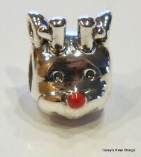 NEW! AUTHENTIC PANDORA CHARM  RED NOSE REINDEER #791781EN39