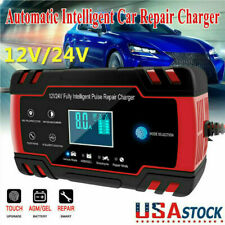 Intelligent Automatic Car Battery Charger 12/24V 8A Pulse Repair Starter Agm/Gel