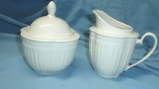 Set MIKASA Italian Countryside Ivory Cream Creamer Sugar Bowl Lid DD900 MINT
