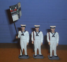 TOY SOLDIERS METAL  WWI IMPERIAL GERMAN NAVY SAILORS FLAG BEARER 54MM 2 PC #1