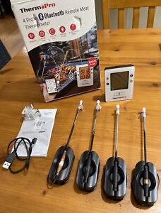ThermoPro TP25 500ft Wireless Meat Thermometer with 4 Temp Probes
