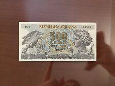 BANCONOTA LIRE 500 ARETUSA 23 4 1975 R3 RARISSIMA SPL+ NUM SABAUDA