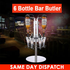 6 BOTTLE WALL MOUNTED & ROTARY STAND DRINKS OPTIC DISPENSER PARTY BAR BUTLER