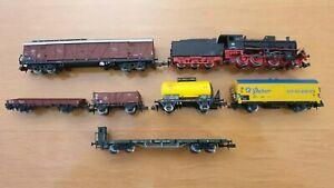 *MINITRIX N BR54 1685 DB Dampflok und 6 Güterwagen