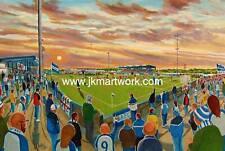 Holker Stadium Fine Art A4 Print - Barrow AFC