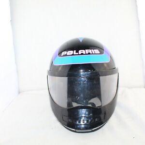POLARIS men snowmobile full visor size Medium multicolor DOT approved helmet