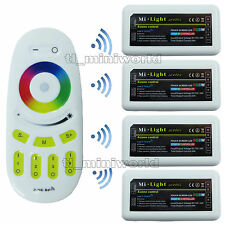 Touch Remote +4x RGBw led Controller -2.4G RF Wireless Mi.Light 4Zone RGB Dimmer