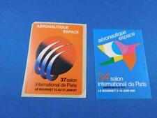 AERONAUTIQUE ESPACE 34 SALON INTERNATIONAL DE PARIS STICKER DECAL LOT 2