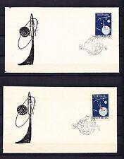 WELTRAUM  RAUMSCHIFFE KOREA 1962  Mi# 425  GEZ & UNGEZ ( SELTENE ! ) 2 ETB/FDC