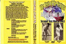 ENGLAND VS WEST INDIES SECOND CRICKET DVD TEST MATCH 1963 60MINS (B/W)