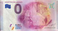 BILLET 0  EURO GROTTES DE LACAVE  FRANCE 2015 NUMERO 2000