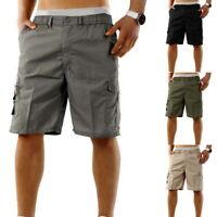 Homme Shorts Corde Pantalons Court Cargo Combat Décontracté Multi-Poche Shorts